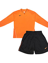 calcio lunghi abiti a manica degli uomini (arancio e nero / Paesi Bassi)