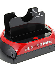 "CP-876-J All-in-1 2.5"" 3.5"" IDE/SATA/Esata HDD Docking with Card Reader (Red&Black)"
