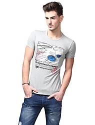 Summer Casual Mode Gris T-shirts U-requin hommes Sauvegarde shirt EOZY