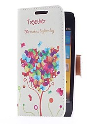 Balloon Tree Style Leather Case with Card Slot and Stand for Samsung Galaxy S Advance i9070