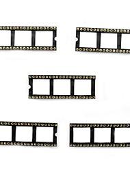 MaiTech 40P Round Hole IC Socket / Chip Base  (5PCS)