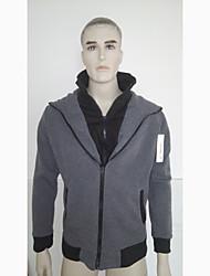 Mode DJJM hommes cultivent son Loisirs Cardigan à capuche en molleton de Scène Frapper (Gray)