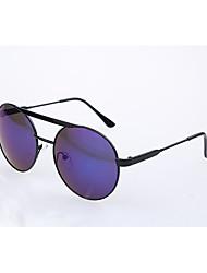 Geescen Звезда Стиль Свет Отражение круглой формы Color Film Солнцезащитные очки (синий)