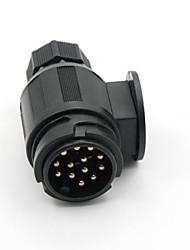 Tirol 13 Pin Remolque Plug Negro Plástico 13 Pole Remolque conector 12 V Enganche de Remolque Remolque toma End