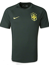 Men's SoccerJersey Short Sleeves Black Green