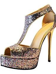 bc tacco a spillo sandali spumanti scintillio delle donne