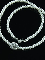 Miss ROSE®Zircon Pearl Big Bead Necklace