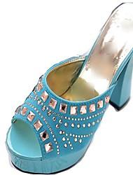 Damen Blockabsatz Peep Toe Sandaletten mit Strass-Schuhe (weitere Farben)