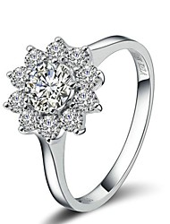 Exquisite Bridal Ring 18K White/Rose Gold Plated Austria Crystal Sunflower Rhinestone Wedding Ring
