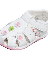 Chaussures bébé - Rose / Blanc - Habillé / Décontracté - Cuir - Sandales