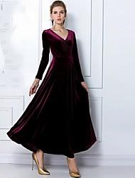 vestido de cuello v elegante de JFS mujeres