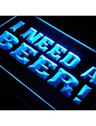 j621 I Need A Beer Bar Pub Club de Neon Light Enregistrez-vous