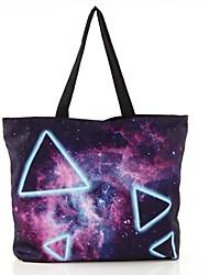 Женские повседневные Galaxy Треугольник Канва с напечатанным рисунком Торговый Tote сумки