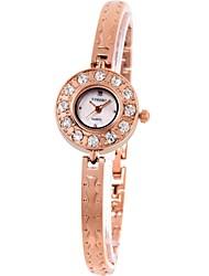 Time100 Women Diamond Pearl Shell Dial Alloy Band Jewelry Clasp Steel Band Bracelet  Quartz Watch