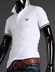Men's Fashion Embroidery Slim Casual Short Sleeve T-Shirt