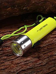 Taucherleuchten LED 1 Modus 350 Lumen Wasserdicht / Wiederaufladbar Cree XR-E Q5 AA Multifunktion - Andere Aluminium Legierung / Plastik