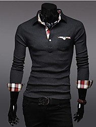 Men's Casual Long Sleeve POLO Shirt