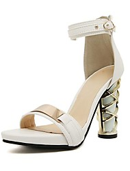 Women's Chunky Heel  Sandals with Sequin and Buckle Shoes