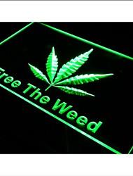 i269 Free The Weed Hemp Marijuana Bar Neon Light Sign