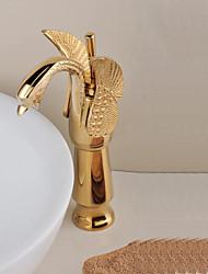 Centerset mitigeur Or rose Finition Style de Swan Salle de bains robinet d'évier