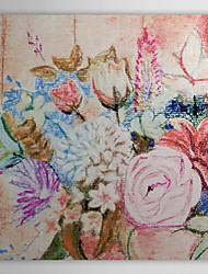 Hand Painted Oil Painting  Floral Peony Flowers with Stretched Frame