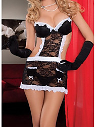 Women's Sexy Maid Served Lingerie (Tire + Underwear gloves + T Pants)