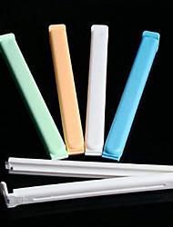 Étanchéité plastique Clip couleur aléatoire, Ensemble de 5, L15.5cm x W1.5cm x H1.3cm
