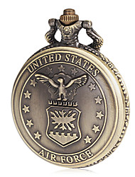 Men's Air Force Pattern Bronze Alloy Quartz Pocket Watch Cool Watch Unique Watch Fashion Watch