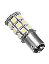 Merdia 1157 5W 40lm 27x5050SMD lumière LED blanche pour volant de voiture / frein / arrière de véhicule (24V / Une paire)
