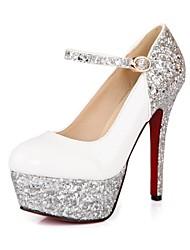 Patent Leather Women's Wedding Stiletto Heel Platform Pumps/Heels Shoes (More Colors)