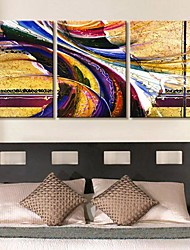 Stretched Canvas Art Gorgeous Color Abstraction Set of 3