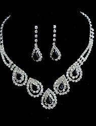 Schmuck-Set Damen Jubiläum / Hochzeit / Verlobung / Geburtstag / Geschenk / Besondere Anlässe Schmuck-Set Legierung Diamant / Strass