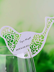 Place Cards and Holders Laser Cut Bird Shaped Place Card for Wine Glass - Set of 12