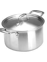 meinuoqi ® 3 camadas de aço 11,5 qt panela de sopa com tampa, w25cm x l29cm x H15cm