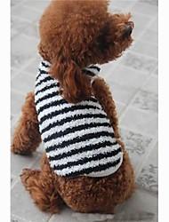 Camiseta para Cães Preto Verão XS / S / M / L / XL Algodão