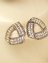 Bling Fashion Stud Earrings Set With Rhinestones for Women