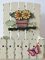 Wooden Fence, Wrought Iron Flower Wearing Coloured Drawing Or Pattern Wall-hung Type