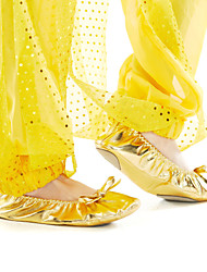 Non Customizable Kids' Dance Shoes Belly Leatherette Flat Heel Gold