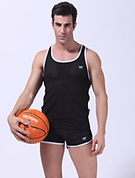 Men's Sleeveless Vest/Tanks , Polyester/Spandex Sport Pure