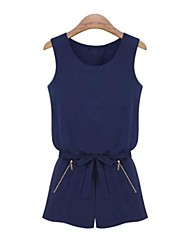 European Women's Short Summer Jumpsuit Tank Tops and Short Pants