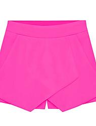 Michaela pantalones cortos causales coreano (negro, blanco, azul, amarillo, rosa, fucsia) -1134