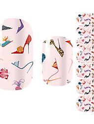 28pcs Salto Alto Projeto Art Nail Etiquetas coloridas