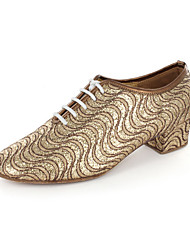 Women's Leatherette Upper Modern Practice Ballroom Shoes Oxfords With Lace-ups