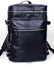 Mens leather leisure travel backpack. The backpack computer Baotou cowhide tide