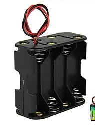 DIY 12V 8-Slot 8 x AA Batterie Double Deck Back to Back Box Holder Case avec fils