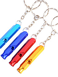 Outdoor Alloy Multi-purpose Survival Whistle(Random Color)