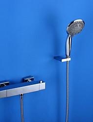 HPB ™ Modernes Chrom-Ende zwei Griffe Thermostat Badewanne Wasserhahn
