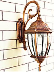 Outdoor Wall Light, 1 Luce, Pittura Classic Retro in alluminio vetro