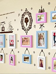 3 cores Photo Frame Set de 13 com adesivos de parede 31