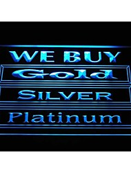 i1000 We Buy Gold Silver Platinum Shop Display Advertising Neon Light Sign
